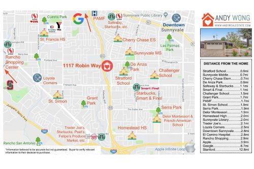 Amenities Map - 1117 Robin Way