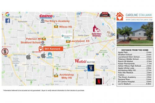 Amenities Map - 941 Kennard Way