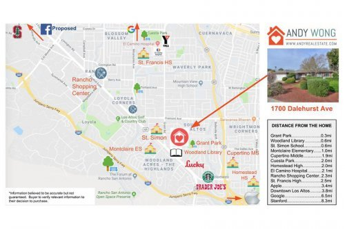 Amenities Map - 1700 Dalehurst Ave