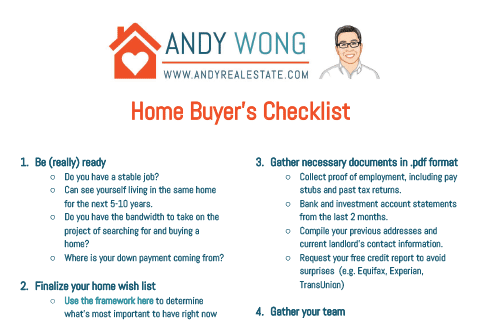 Home Buyer's Checklist from Andy Wong